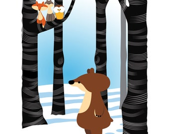 Limited edition - Woodland Series Bear Print