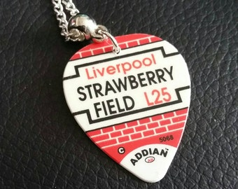 Strawberry Field Plectrum Necklace
