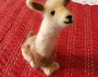 Needle Felted Alpaca artist Sandy Zappala OOAK
