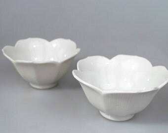 Two Ceramic Flower Bowls