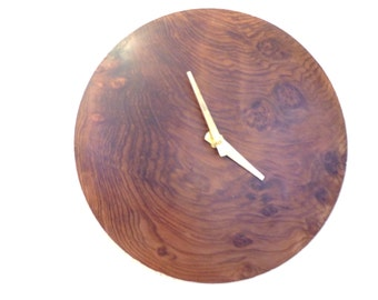 Wall Clock Redwood Burl