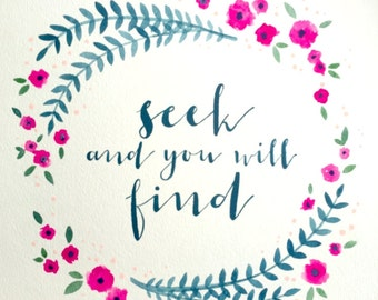 Seek and You Will Find - Watercolor Painting