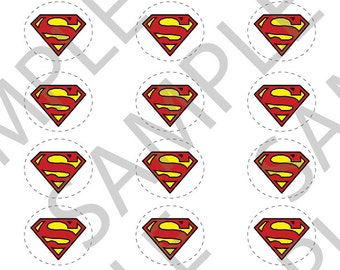 Superman Cupcake Toppers Printable