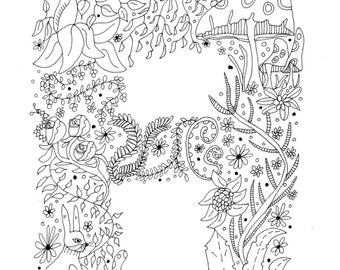 Alphabet Letters - colouring in