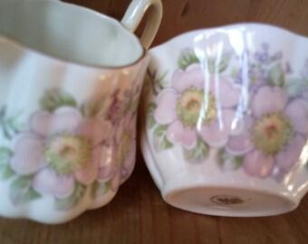 Royal Tara China Creamer and Sugar Bowl