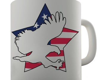 America Star Eagle Ceramic Novelty Gift Mug