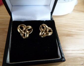 9ct gold celtic knot earrings
