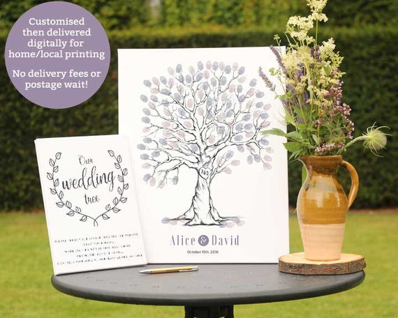 Wedding Tree Guest Book, Wedding Guestbook, Alternative Wedding ...