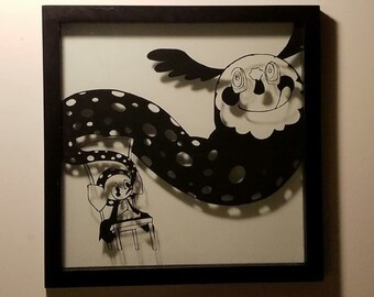 "Anime Framed Art- Madoka Magica ""The Charlotte Witch"""