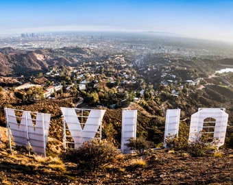 Hollywood Sign Photo From Above