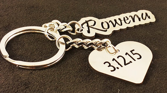 Personalized Couple Two Metal Key chain Set