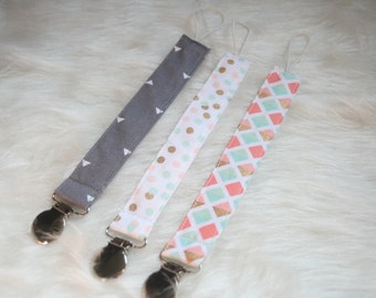 Pacifier Clip | Pacifier Strap | Toy Strap | Ready to Ship | Gender Neutral Pacifier Strap | Binky Clip| Baby Gift