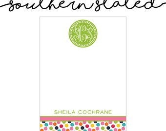 Monogram Personalized Notepads