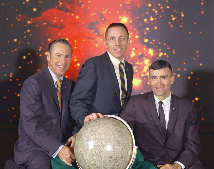 Apollo 13 Crew Portrait Jim Lovell, Fred Haise and Jack Swigert - 5X7, 8X10 or 11X14 NASA Photo (EP-227)