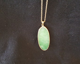 Green oval Agate