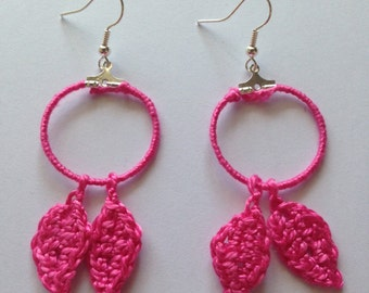 Handmade wool earrings
