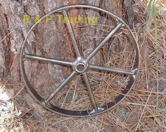 12 inch steel, (metal), wagon wheels