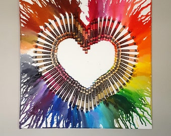 Customizable Heart Crayon Art