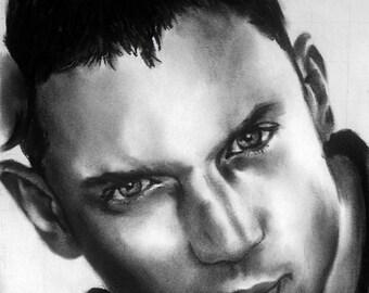 Wentworth Miller Chalk Pastel Drawing