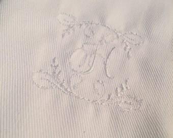 Monogrammed Cloth Dinner Napkins - Set of 6