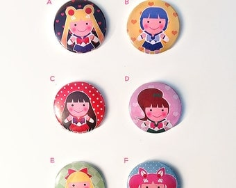 Sailor Moon Button Pins (3 pins for 5)