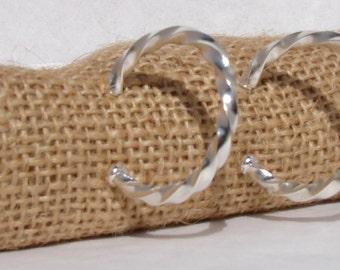 Argentium Silver Twist Earrings