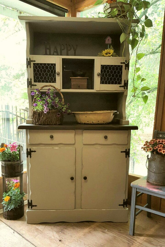 vintage shabby chic farm hutch
