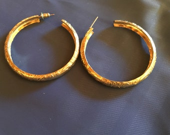 80's gold hoop earrings