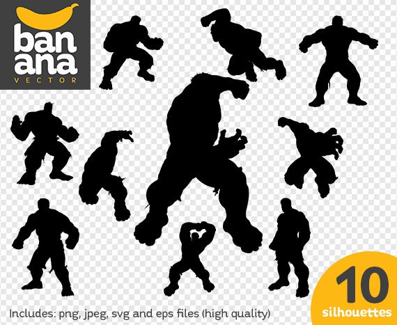 sale hulk silhouettes png jpg svg eps files high