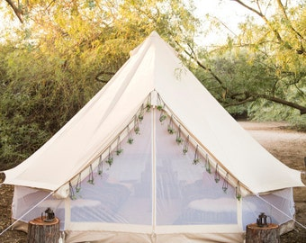 Bell Tent for Glamping--Festival Tent-Yurt-Bohemian Style-Garden style-hipster 16 ft round-Sand Colored