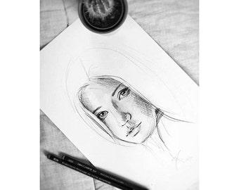 Simple portraits, custom graphite custom. A4 size (29