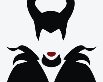 MALEFICENT---Villain -- Vinyl Decal - Multiple colors and sizes.