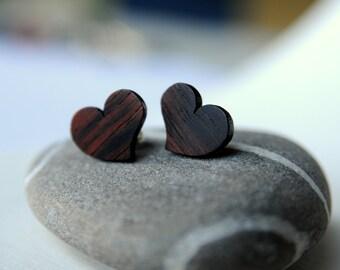Little Heart wooden earring
