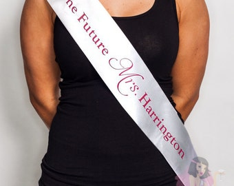 Hens Night Bachelorette Personalised Sash Two sided Print