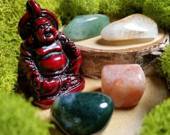 The Laughing Buddha - Good Luck Mini Crystal Set
