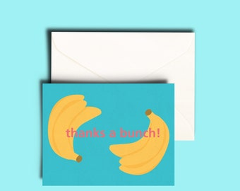 Thanks a bunch greeting card 5pk