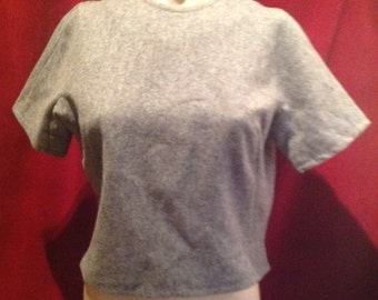 1940s / 50s Ladies Blouse / Grey Wool /make - Ladies Garment  Workers Union  INT