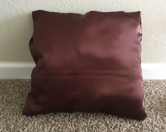 Brown Satin Pillow