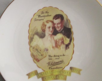 """Whitman's Chocolates""""For the """"Particular Someone"""" PLATE"""