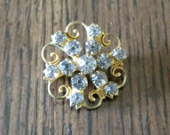 Antique Brooch Rhinestone Pin