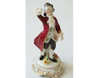 Vintage French Man European Gentleman Figurine