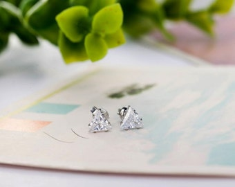 Silver Korean Stud Earrings