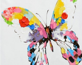 Oil Painting On Canvas by PALETTE KNIFE - Butterfly