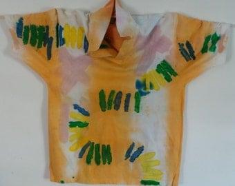 Collared Tee Shirt (Batik Direct Application )