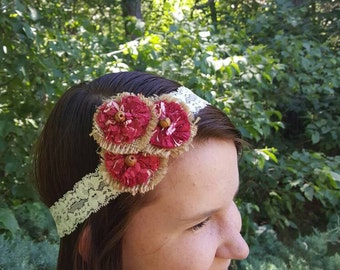Adult/teen stretch lace headband