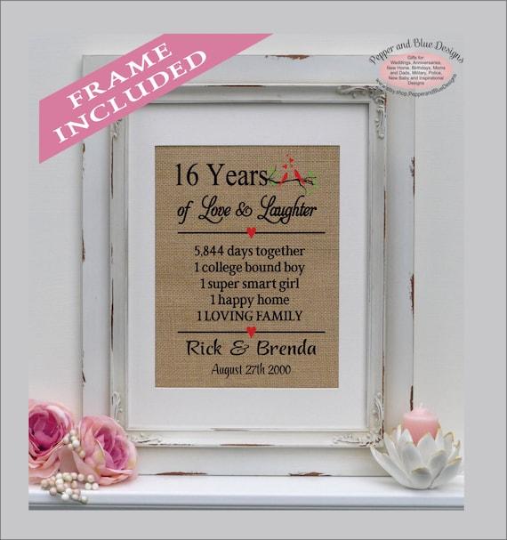 16 wedding anniversary gifts