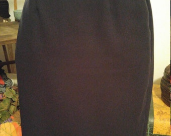 70's Vintage Navy Blue Pencil Skirt