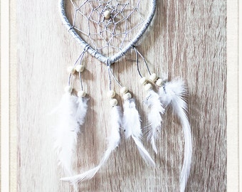 Silver and white dream catcher