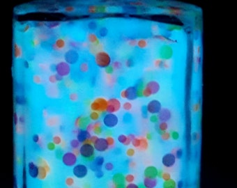 Blue Orbeez-glow in the dark hand made nail polish
