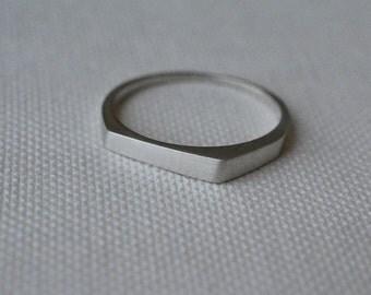 14k white gold ring, white gold wedding band, white gold wedding band set, white gold wedding ring, geometric ring, white gold solid ring